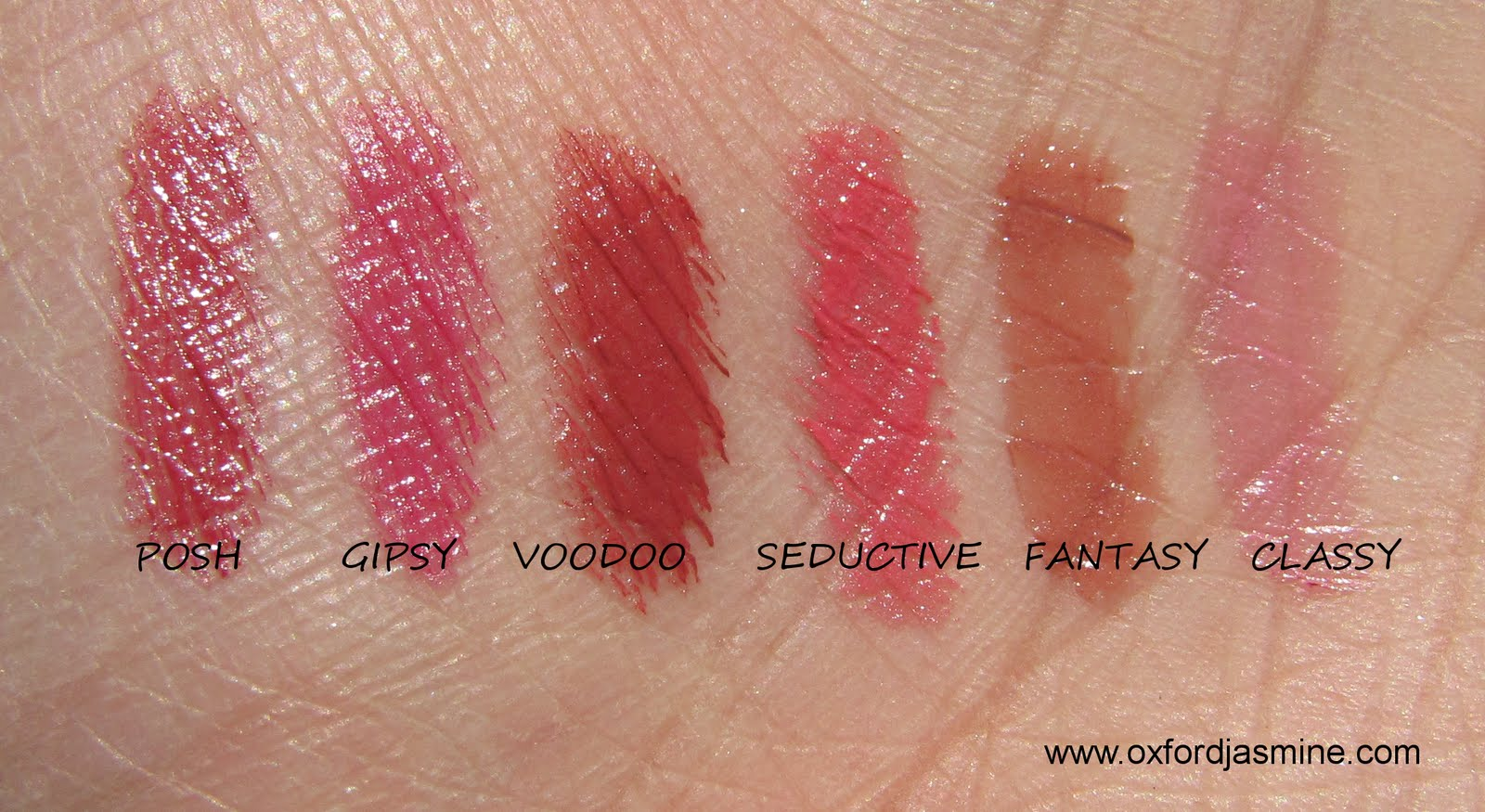 OxfordJasmine...: e.l.f Lipsticks - Swatches and review