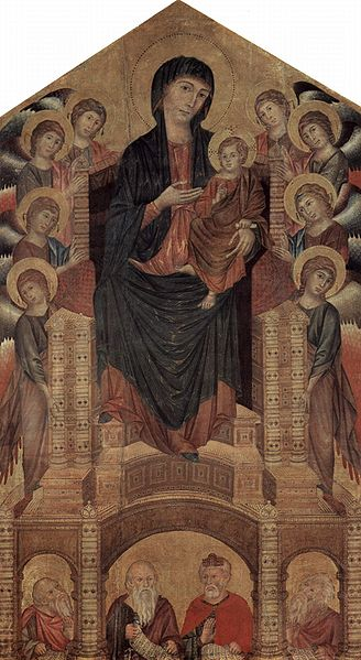 cimabue madonna enthroned with angels. Madonna Enthroned,