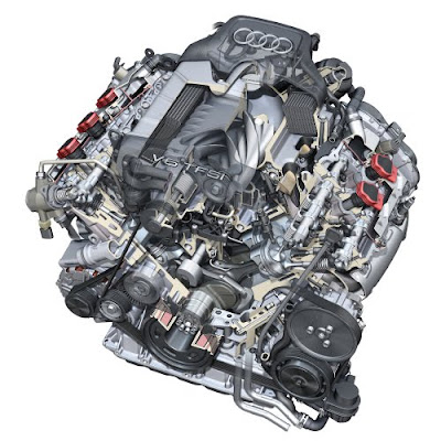 3.0 TFSI (supercharged) V6 engine with FSI direct injection (333 hp / 325 lb-ft) for Audi S4 sedan