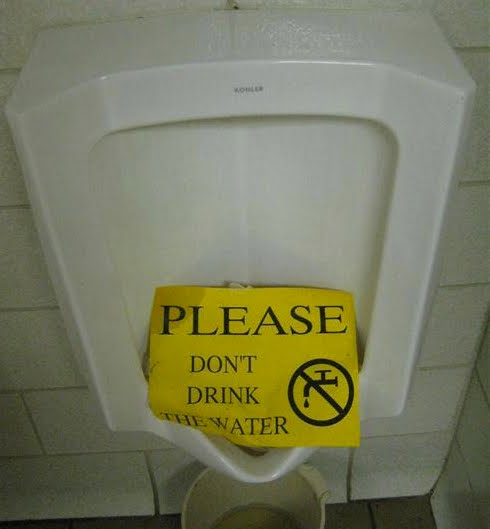 Ultra gross no drinking from the urinal for Bathroom 9gag