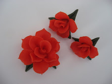 Dahlia Pin and Earrings