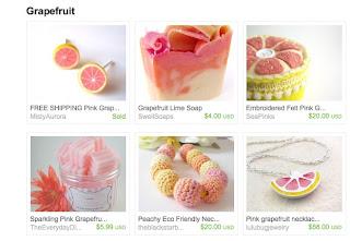 etsy finds grapefruit treasury handmade