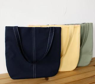 handmade tote slim tote handmade bags