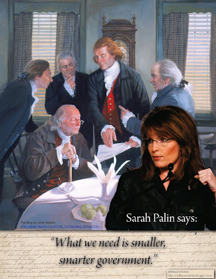 sarah palin says we need smaller smarter government