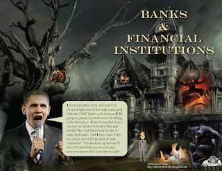 obama demonizes banks and financial institutions