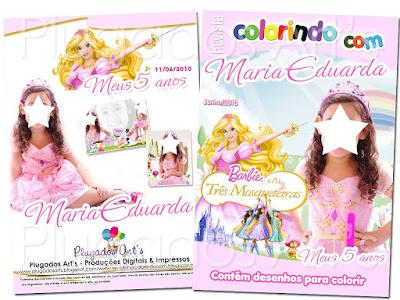 Desenhos Para Fazer Convite Da Barbie E As Tres Mosqueteiras