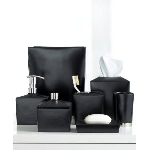 Remarkable black ceramic bathroom accessories contemporary for Bathroom accessories collection