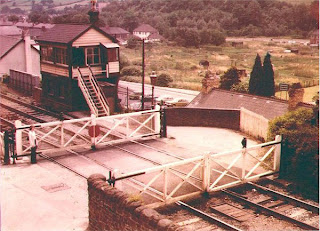 Railway signal box at Risca 1