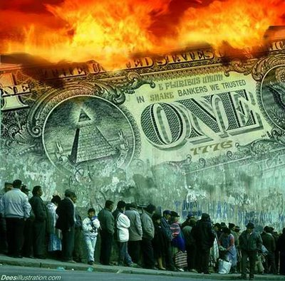 photograph on the collapse of the dollar and American society by Infowars