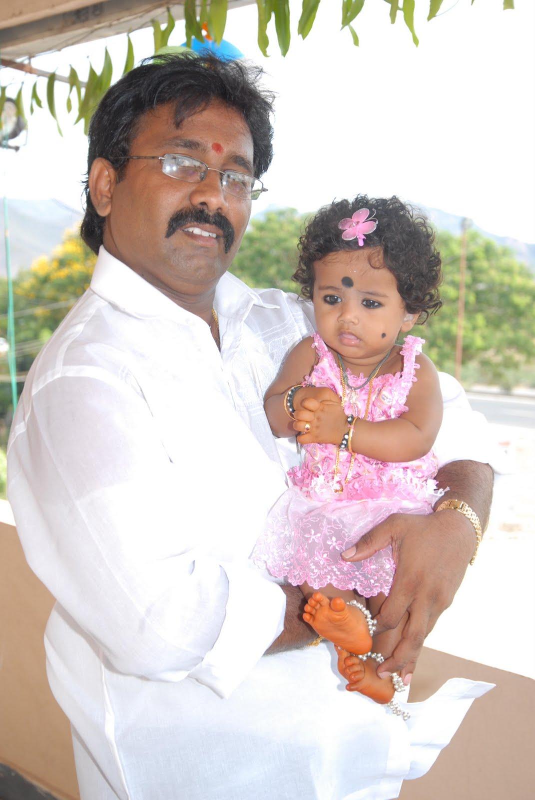 Charvitha gogineni dad mom for Annaprasana decoration