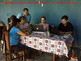 """1ª. Reunião do Grupo de Estagio. Elaboração do Projeto """"GERAÇÂO DE RENDA"""""""