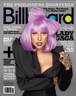 Lady GaGa Billboard Magazine August 2009
