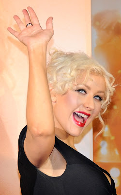 Christina Aguilera at the Premiere of