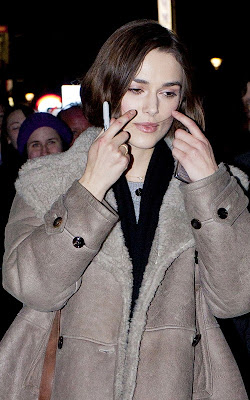Keira Knightley leaving the Comedy Theatre