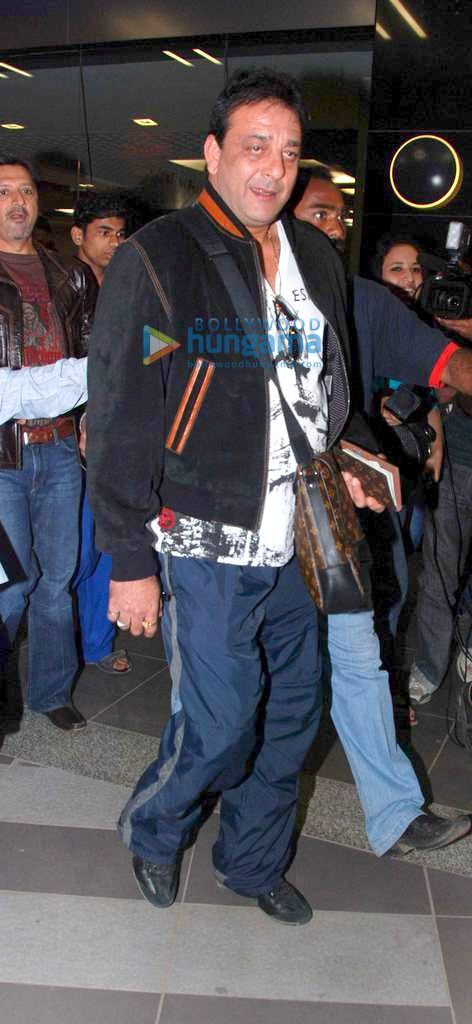 Sanjay Dutt Returns From Bangkok