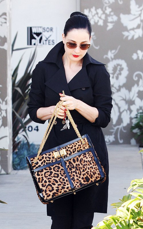Dita Von Teese shopping in West Hollywood