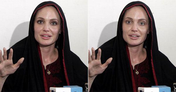 Angelina Jolie without make-up.