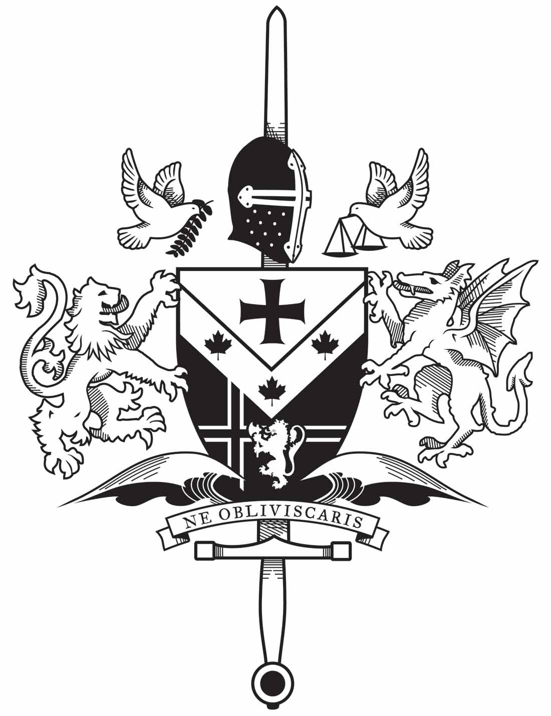 Coat of Arms Family Crest Tattoo Designs