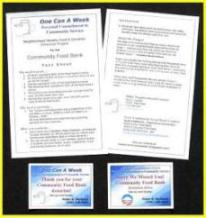DOWNLOAD Free One Can A Week neighborhood food collection Collateral Materials.