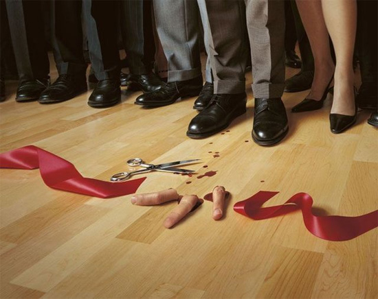 fingers off Award Winning Images of Fun Advertising Campaigns