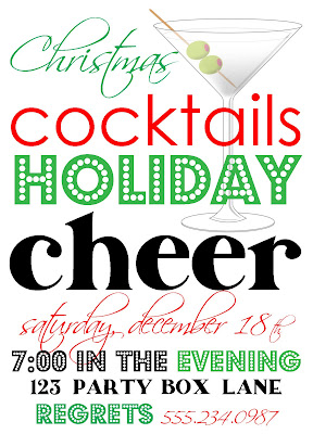 holiday cocktail party invites