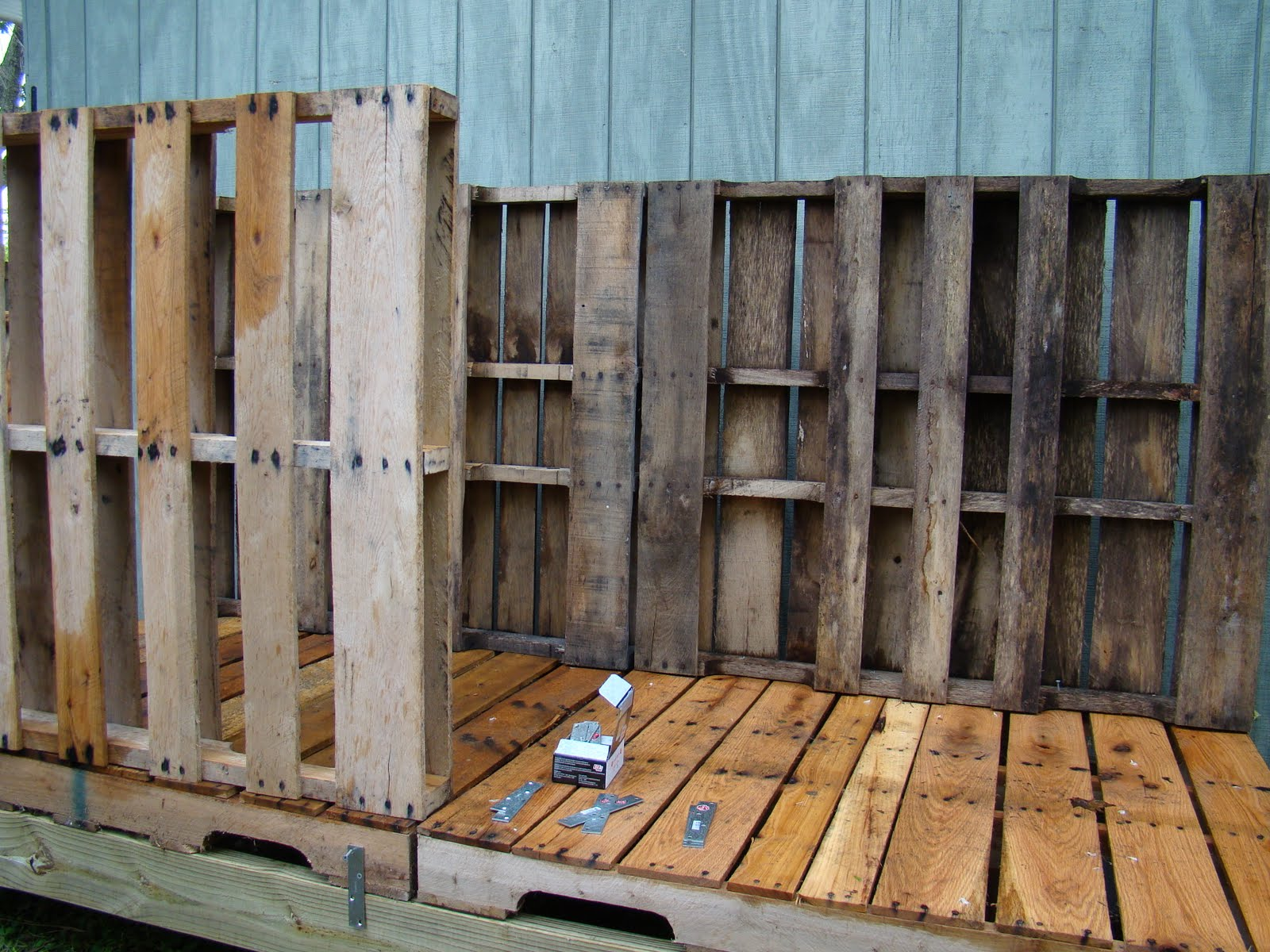 Cool coops pallet coop community chickens for How to build a chicken coop from wooden pallets
