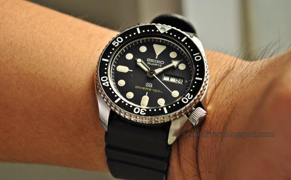 Seiko diver sold seiko quartz diver 7548 700b desert storm restoration - Seiko dive watch history ...