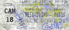 ticket BsAs, Argentina 2001