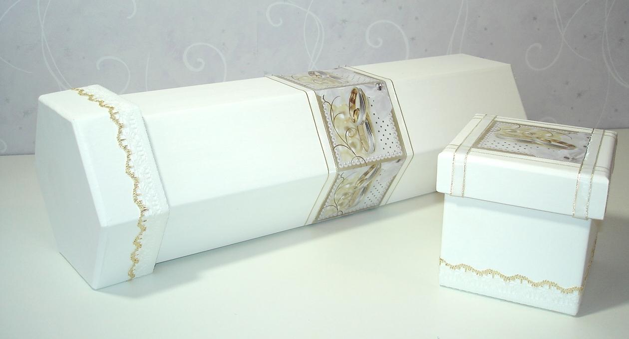 decoracao branca e dourada para casamento : decoracao branca e dourada para casamento:Caixa+8cm+e+caixa+de+vinho+casamento+Branca+e+Dourada+Artesanato