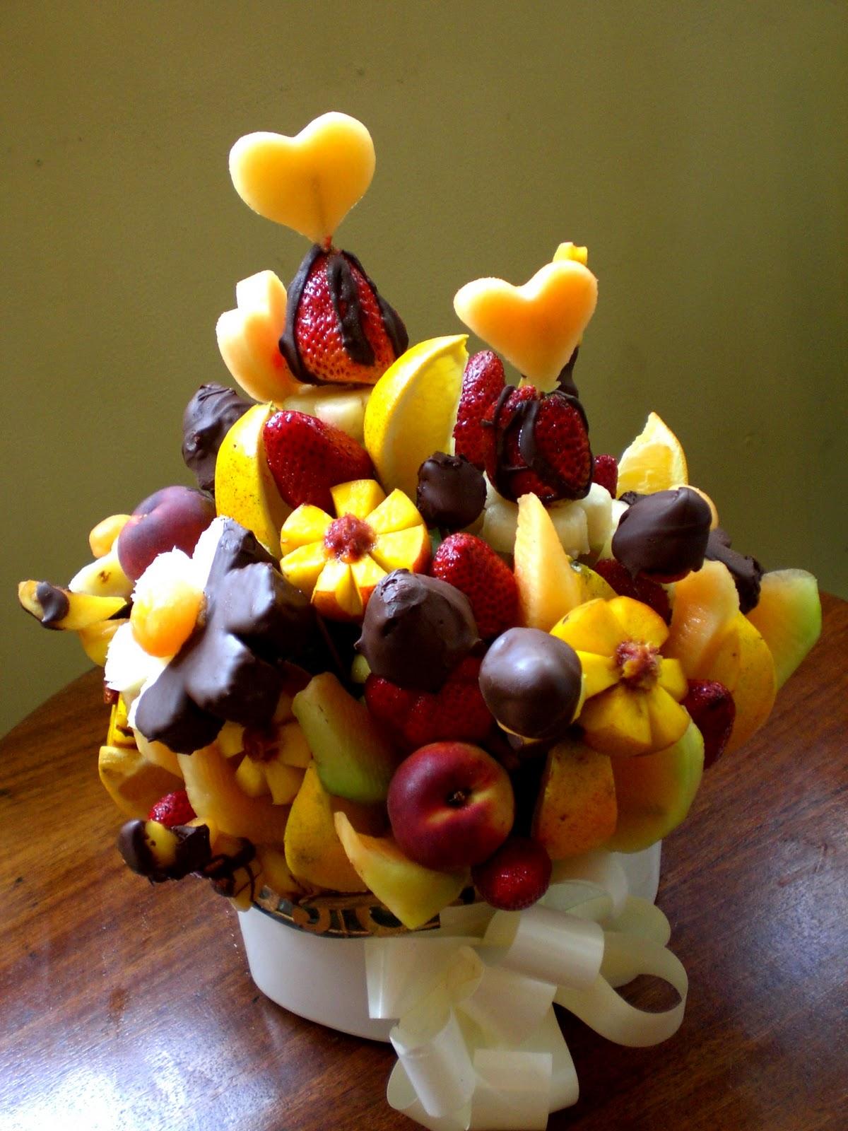 La dolce frutta frutas achocolatadas