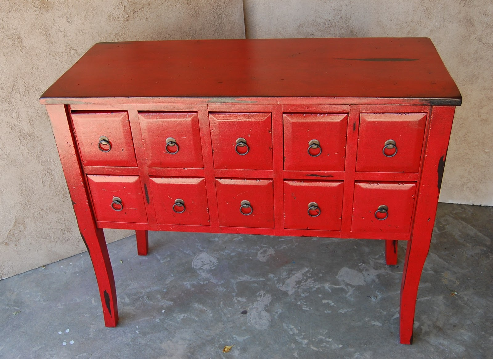 Kcfauxdesign red chinese apothecary cabinet for Red chinese furniture