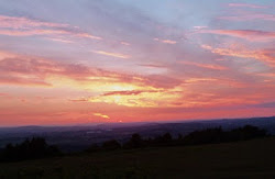 Watching the sun go down on May Hill