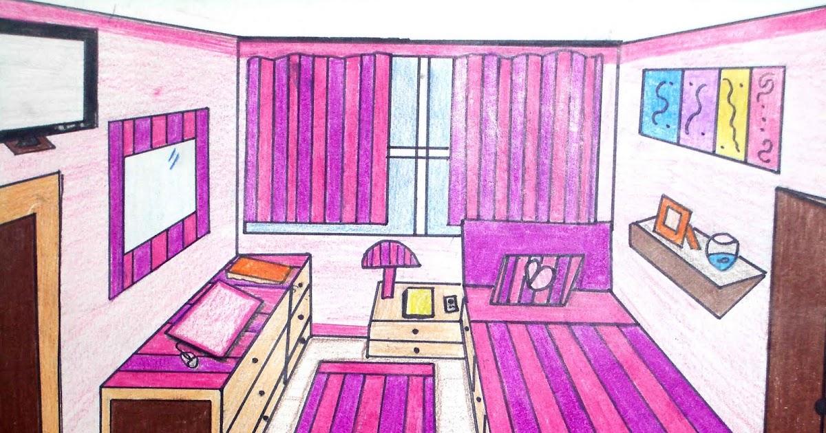 Saperedibujo habitaci n en perspectiva c nica 4 de eso - Habitacion en perspectiva conica ...