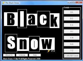The Black Snow - 1 Milhão de Seriais de A até Z