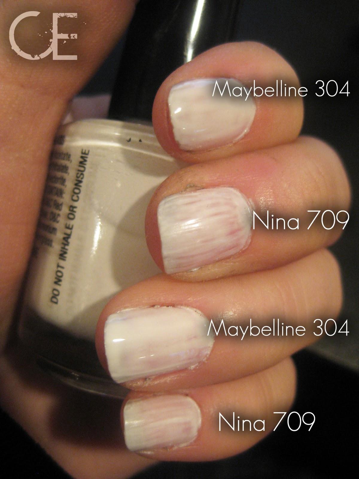 Makeup, etc!: Versus: White Nail Polish
