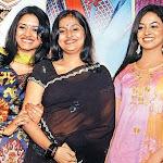 Remya Nambeesan In Transparent Saree Navel Show
