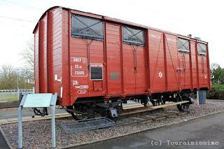 A Langeais un ancien wagon devient Monument National des Évasions des Trains de Déportation Langeais+wagon+de+la+deportation