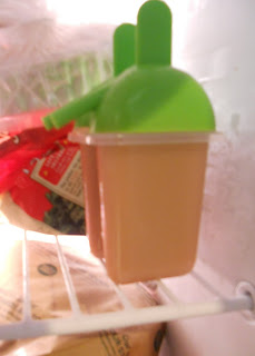 Freezing the Chai Popsicles