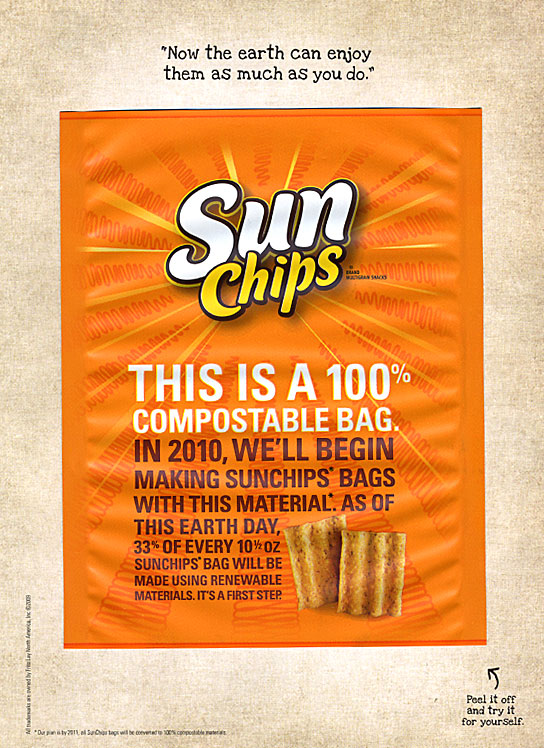 the different approach of sun chips in advertisements Frito-lay: sun chips rachael litton  print advertisements coupons market as new, different, fun, wholesome, healthy snack chip same brand name.