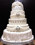 Grand 5 tiers stacked Wedding cakes
