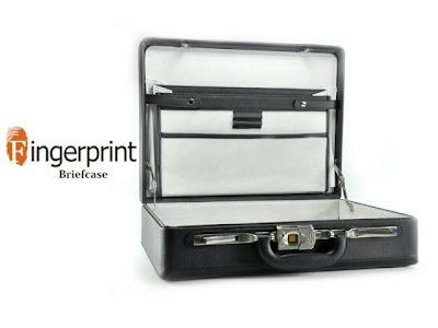 fingerprint briefcase