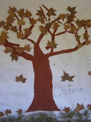 O outono para crianças