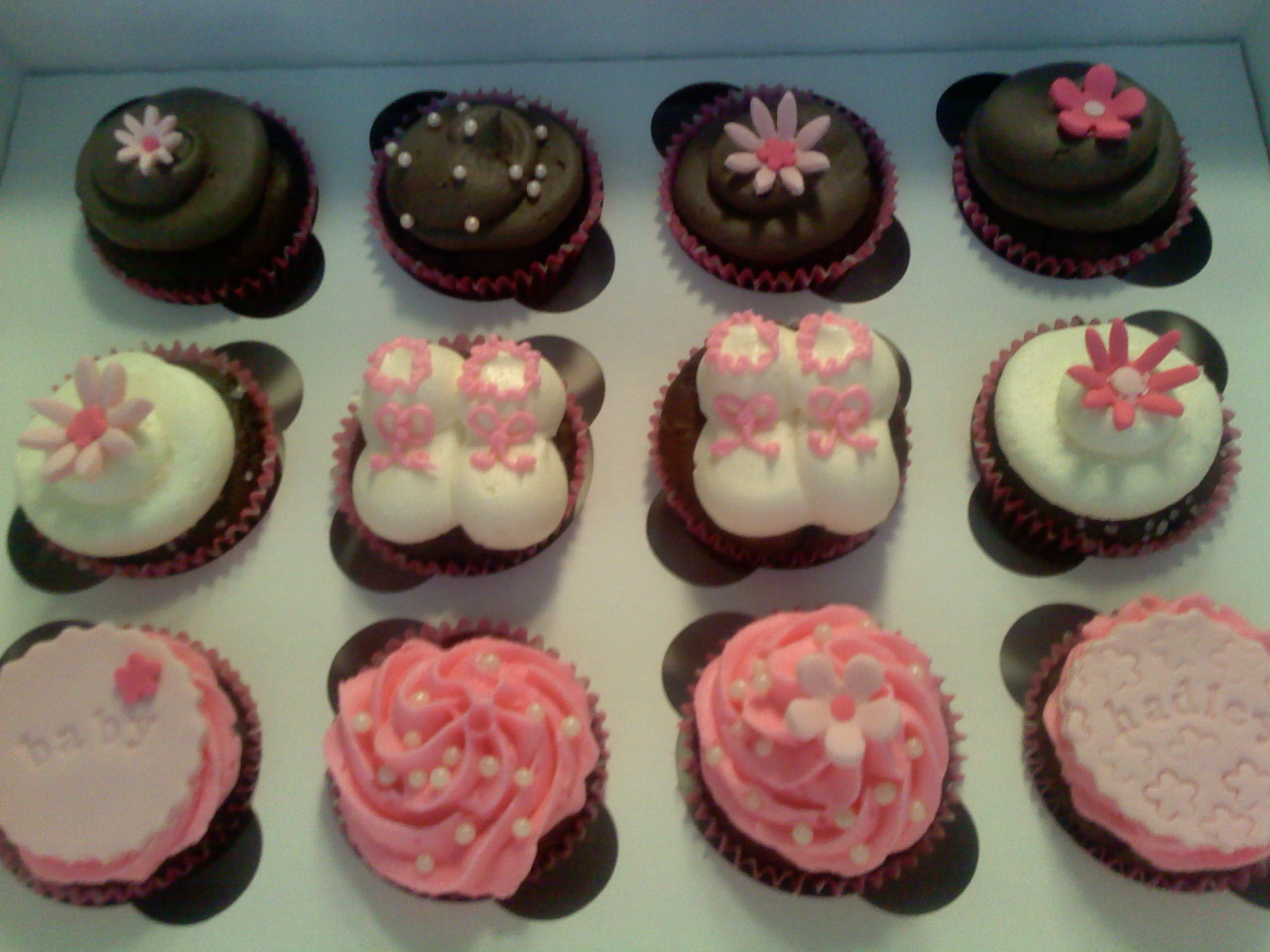 Pink Baby Shower Cupcakes : Lafayette-Crews Cakes and Dainties:  Pretty in Pink  Baby ...