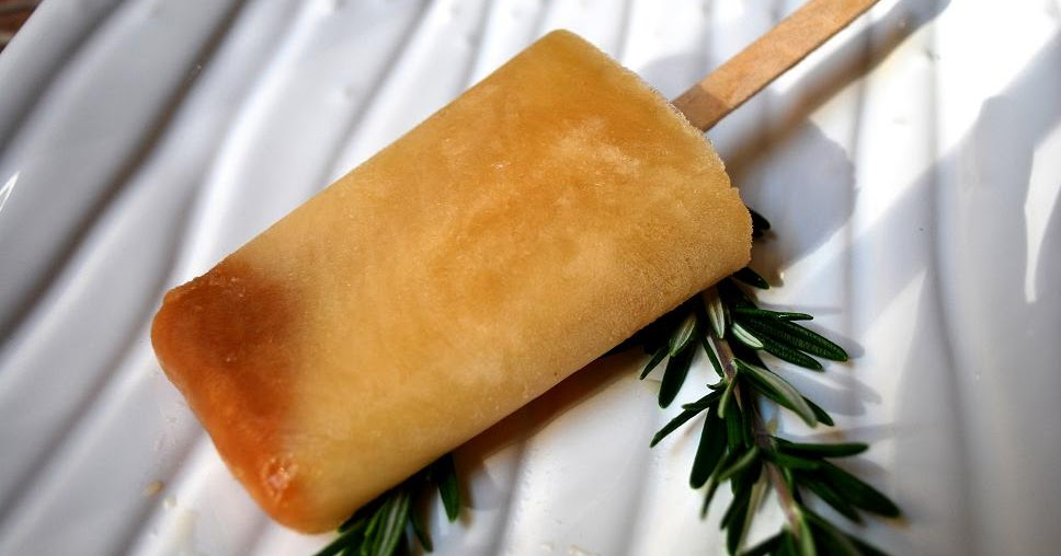 Just the Right Size: Apple Cider and Rosemary Ice Pops