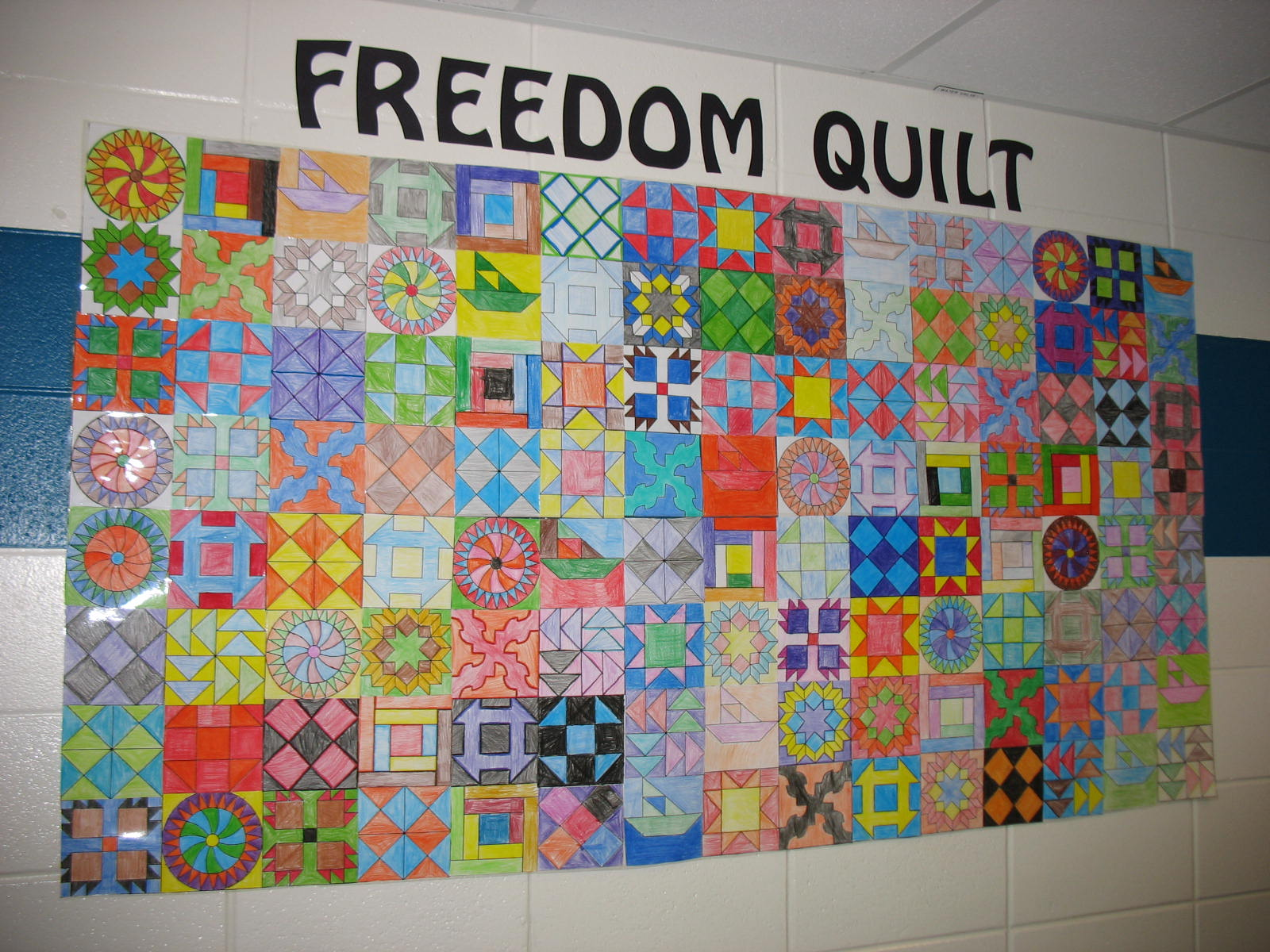 Mrs. Stone's Class: We've made our Freedom Quilt! : meaning of quilt - Adamdwight.com