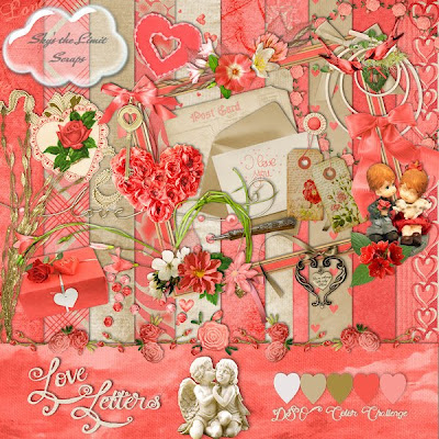 Scrapbook freebie Love Letters by Skys the limit scraps