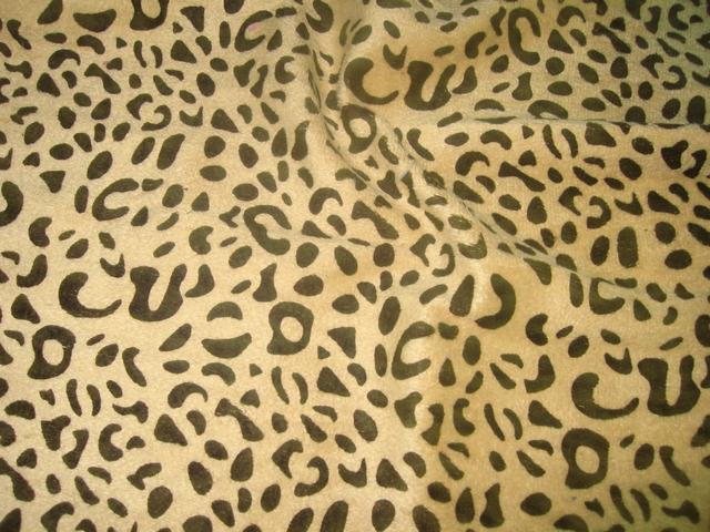 Leopard Print Fur Fabric