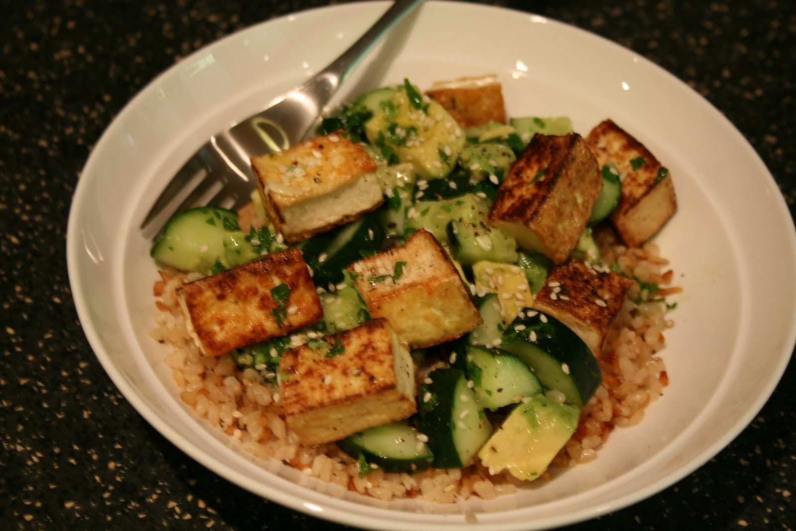 This lemon cucumber tofu salad might be my favorite. (pardon my ...