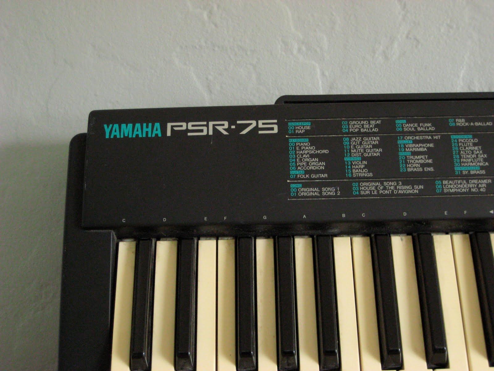 Mat & Mog's Shop: Yamaha PSR-75 Electric Keyboard $40