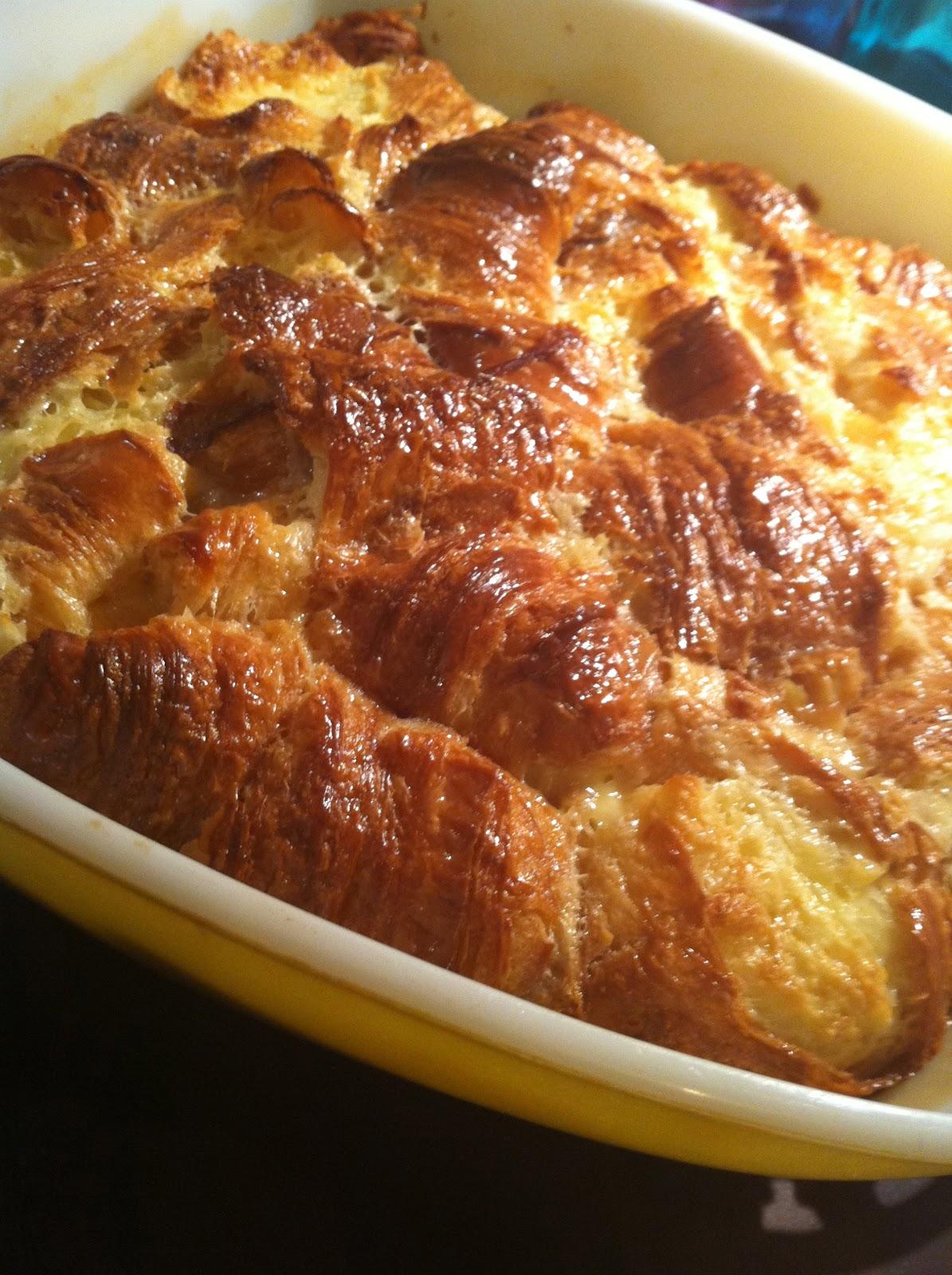 Caramel Croissant Bread Pudding Recipe — Dishmaps